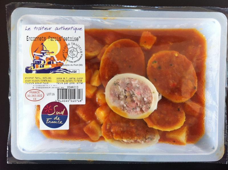 Encornets Farcis à la Sètoise - Produits de la mer