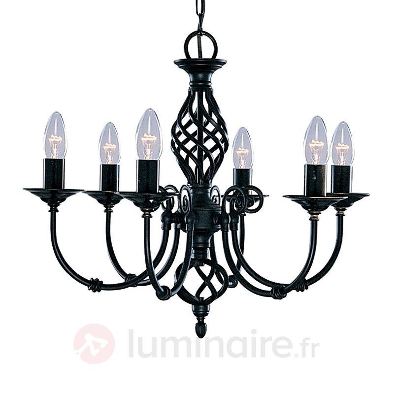 Lustre de style ZANZIBAR à 6 lampes noir - Lustres classiques,antiques