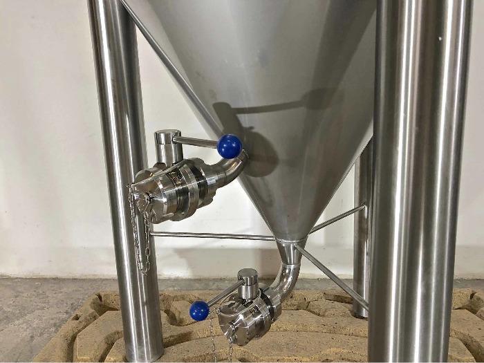 Depósito de acero inoxidable 304 - Cilindro-cónico - Fermentador de cerveza