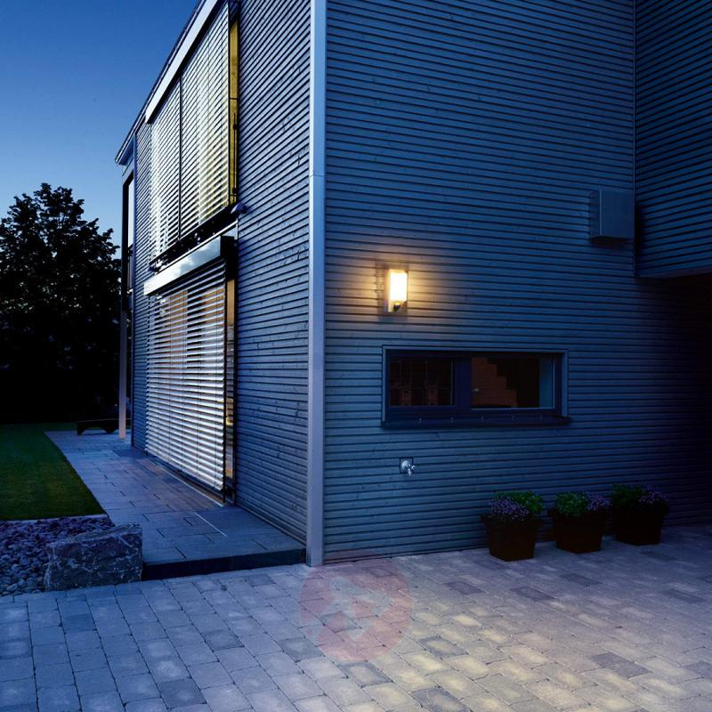 L 610 LED outdoor wall light with Sensor Power LED - stainless-steel-outdoor-wall-lights