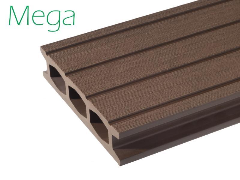 Mega deck composiet brugdekplanken - Fiberplast levert onder de merknaam Envirodeck hoogwaardige composiet planken.
