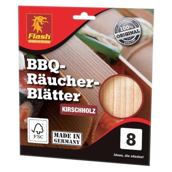 FLASH Räucher-Blätter Kirsche 8 Stück FSC -