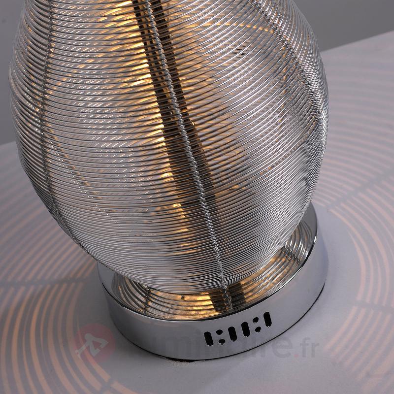 Lampe à poser en forme de vase Vasilia noir-argent - Toutes les lampes à poser