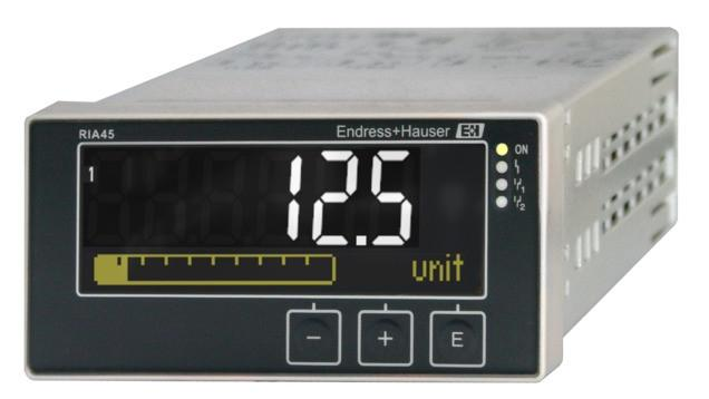 RIA45 Process meter with control unit -