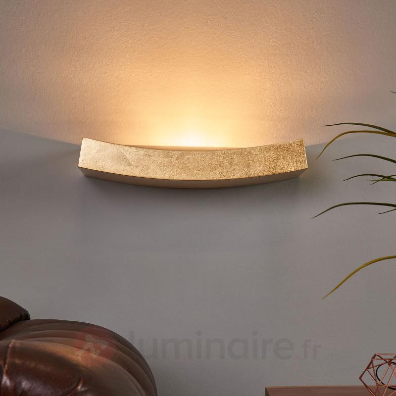Applique dorée Berra de forme courbe - Appliques en laiton/dorées