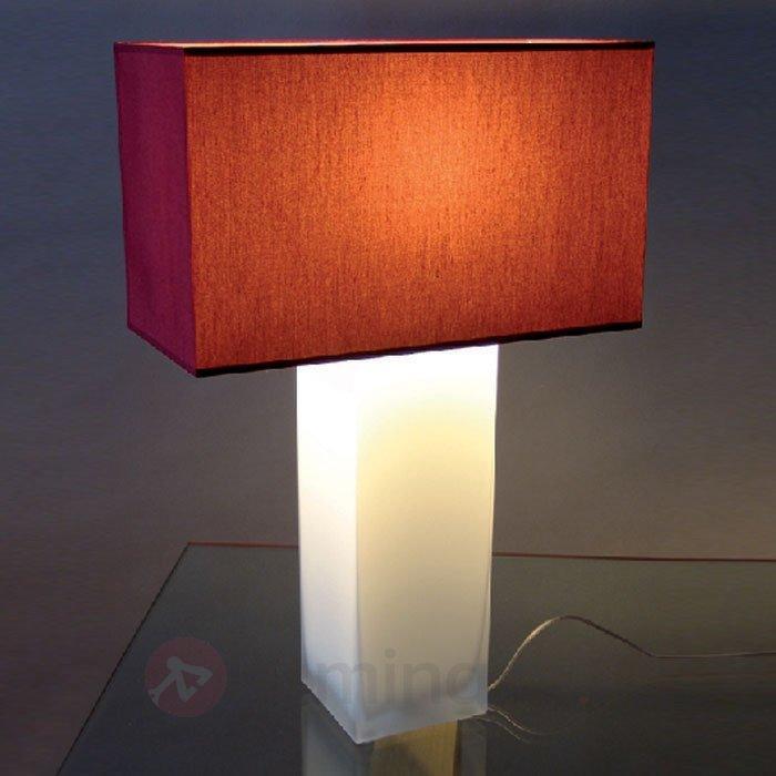 Lampe à poser rouge NINA pied opale - Lampes à poser en tissu