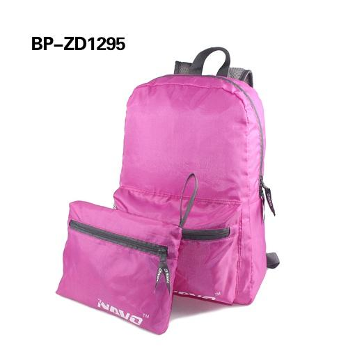 Durable travel foldable backpack - waterproof polyester ripstop material, ultra lightweight