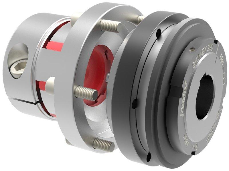 Safety coupling SKW-EK - Safety coupling SKW-EK with elastomer coupling attachment