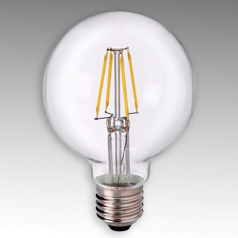 E27 4 W 827 LED globe G80, clear - light-bulbs