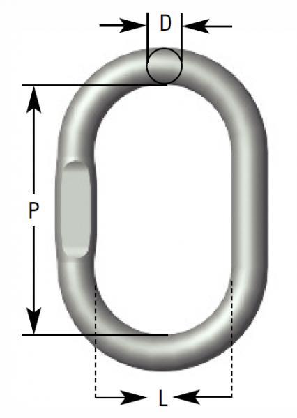 Aufhängerglieder für 1/2 strängige Anschlagketten(D) - Verbindungselemente