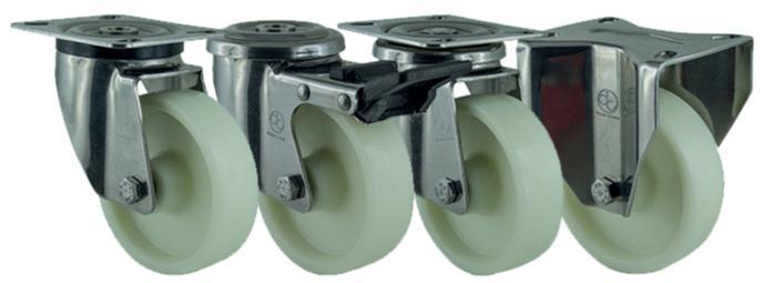 Ditherm LTW - Heat resistant wheels and castors with glass fibers, resistance -40°C +150°C