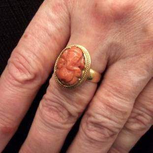 Bagues - Or 22ct, corail , Inde