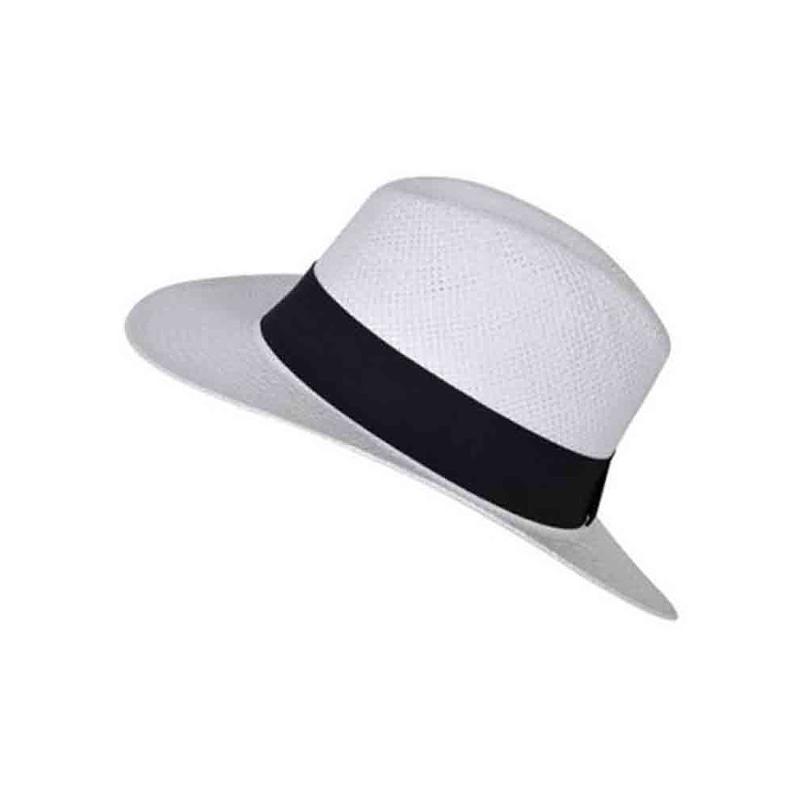 Chapeau borsalino blanc/bleu roi