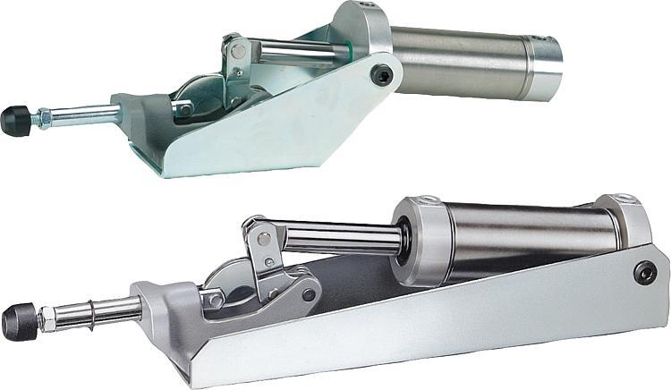 Pneumatic Clamps Push-rod - Toggle clamps Pneumatic clamps Accessories for clamps Latches Quarter-turn locks
