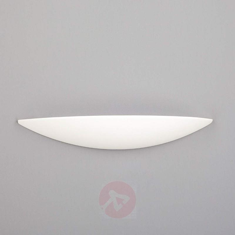 Rufus LED wall light, half-bowl form - Wall Lights