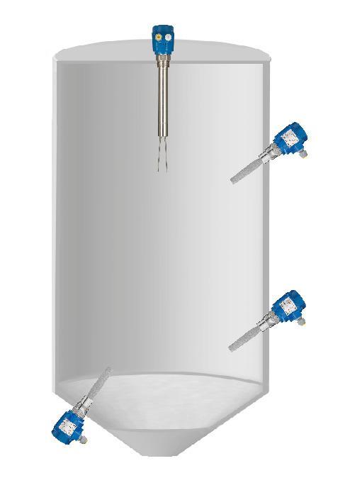 Horquilla vibratoria Vibranivo® VN 4000 - Detector de nivel lleno, vacío o intermedio en silos o contenedores.