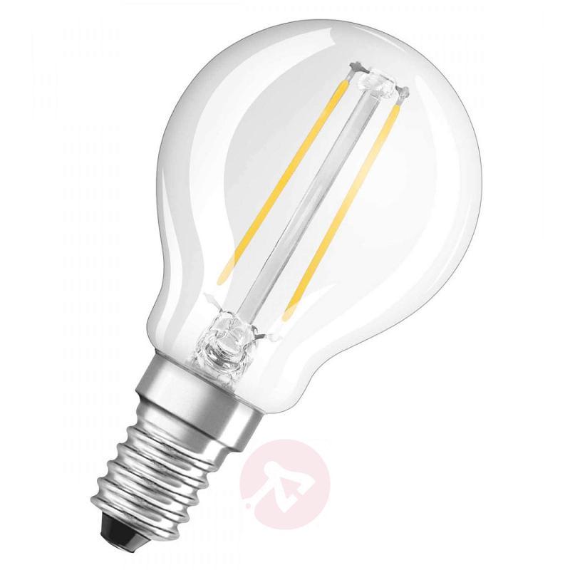 E14 1.2 W LED filament golf ball bulb, clear - light-bulbs