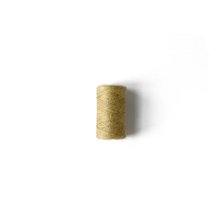 Hilo de yute natural 3/2 CO pequeña - Bobina pequeña de hilado de yute natural
