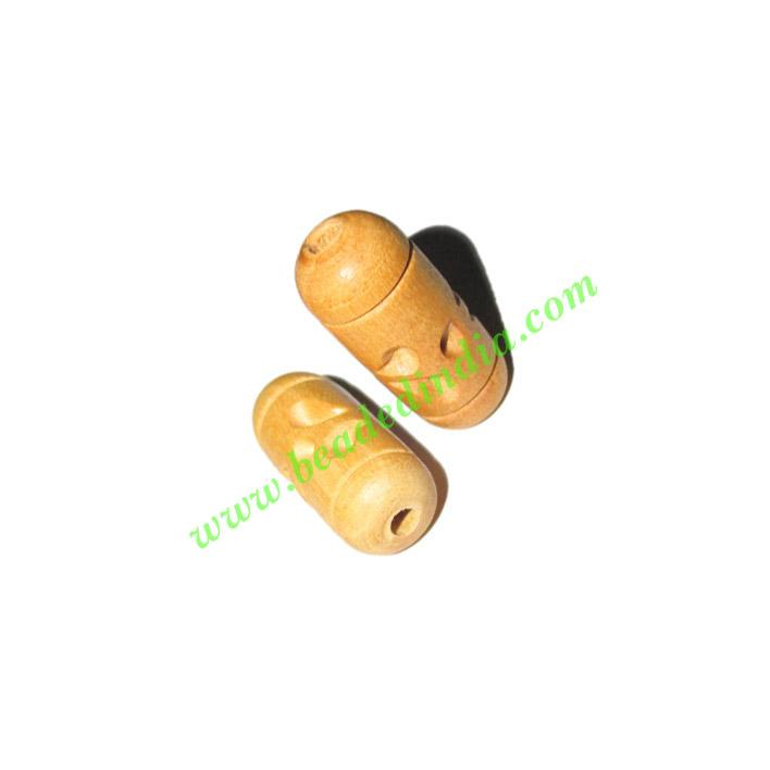 Natural Color Wooden Beads, size 10x24mm, weight approx 1.21 - Natural Color Wooden Beads, size 10x24mm, weight approx 1.21 grams