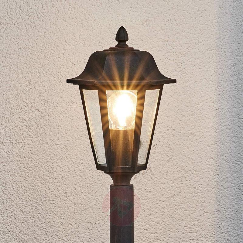 Bollard lamp Lamina in rust finish - Path and Bollard Lights