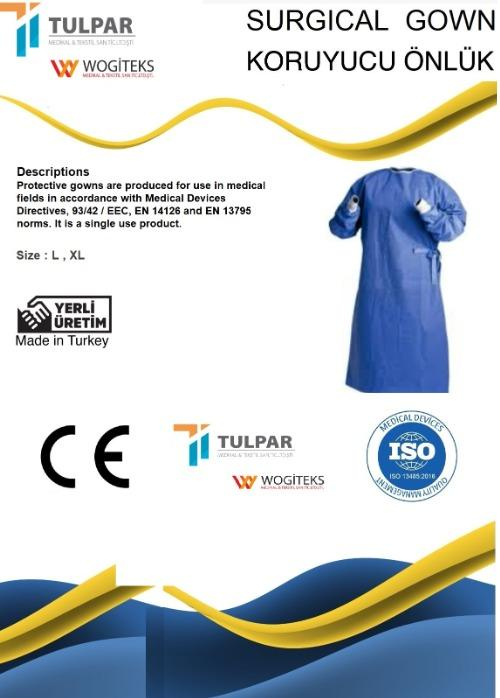 isolation gown 40g Blue SMS Surgical Suit Disposable gown - SMS materials ,blue colour ,40 gsm surgical gown medical gown