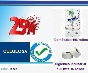 25% de descuento en papel higiénico doméstico e industrial