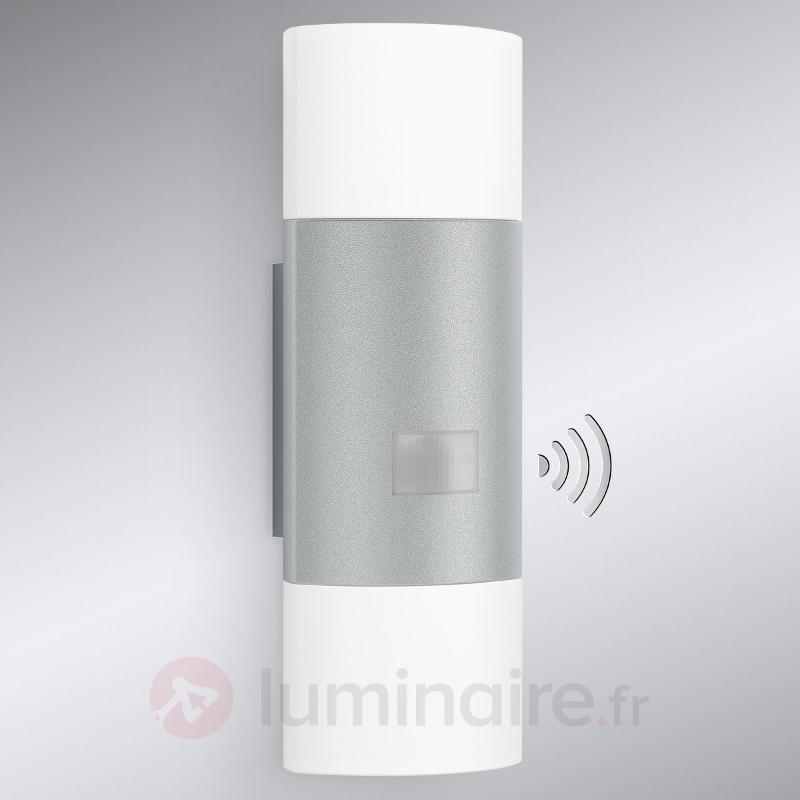 Applique ext. LED à capteur L910 Up-down, argenté - Appliques d'extérieur avec détecteur