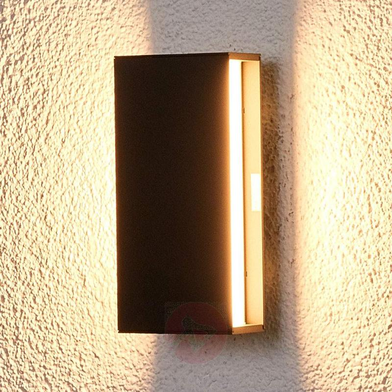 Dark LED outdoor wall light Holly - Outdoor Wall Lights