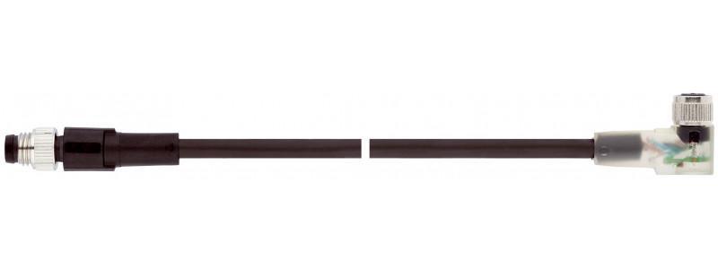 Cable de conexión sensor/actuador - Cable de conexión sensor/actuador, M8 a M8, PUR libre de halógenos