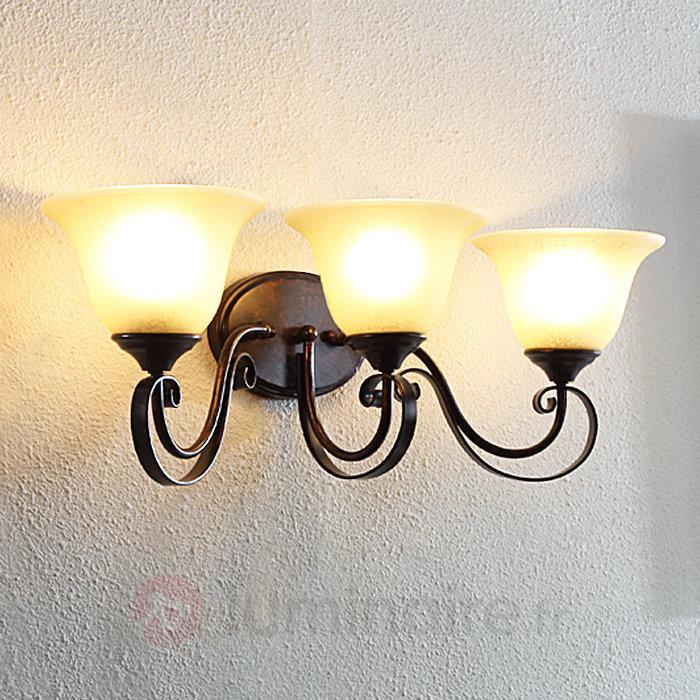 Applique LED Svera à trois lampes - Appliques rustiques