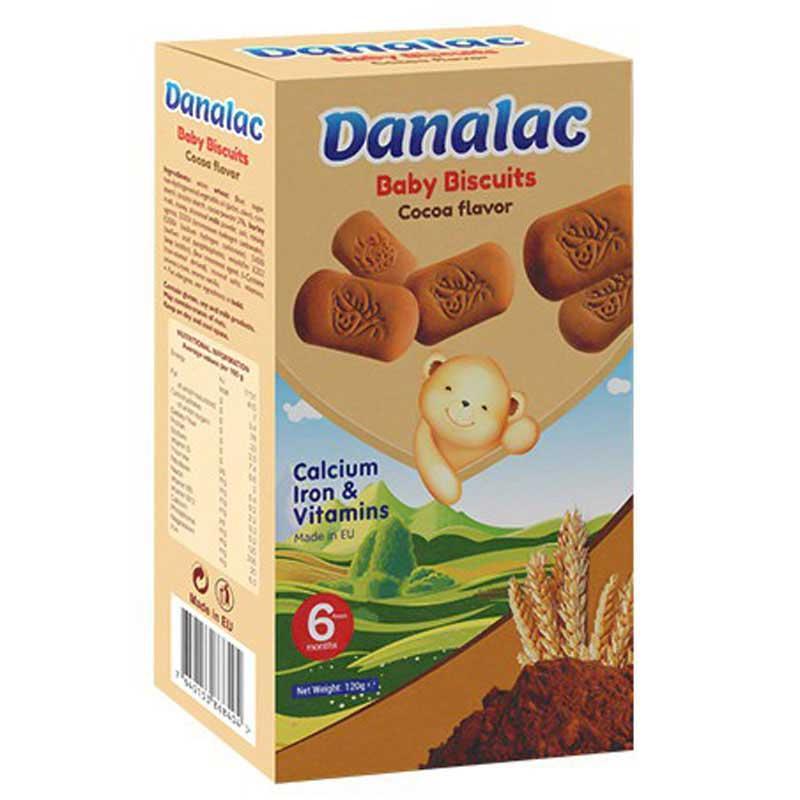 Biscoitos DANALAC de dentição para bebês - Salgadinhos para crianças a partir de 1 ano de idade