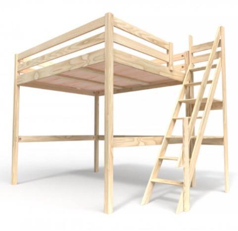 Mezzanine Sylvia - avec escalier meunier Bois