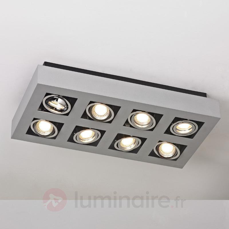 Puissant plafonnier LED Vince, à 8 lampes - Plafonniers LED