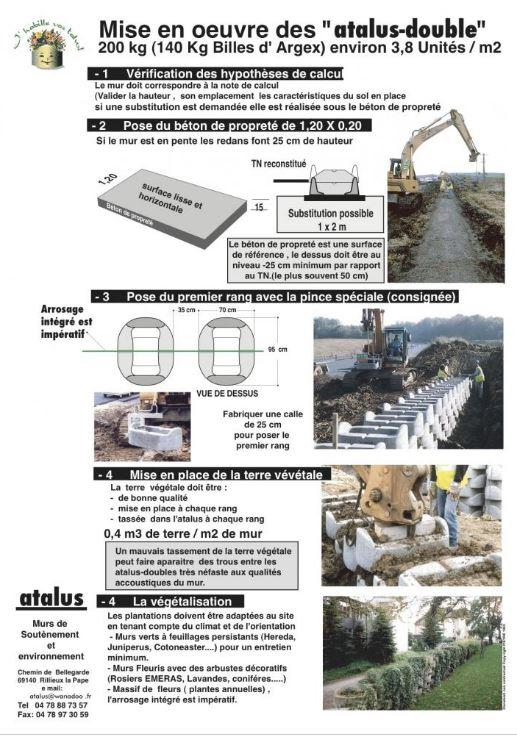 Murs anti-bruit - Atalus double