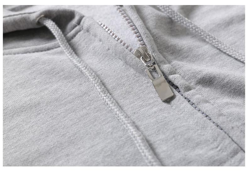 Casual hooded zipper fleece - hood sweater with zip