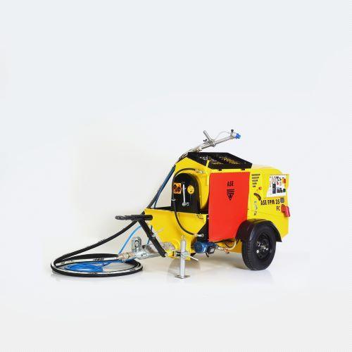 Bomba para mortero ignifugo Fireproofing pump ASE FPM 35 - Mezcla bombea y proyecta material basado en vermiculita, anti incendio, cemento