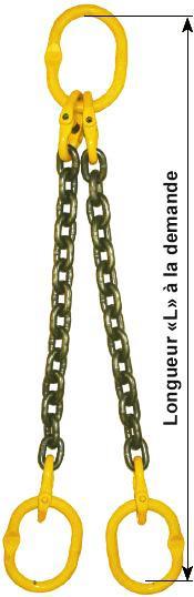 Elingues chaînes - Elingue chaîne à 2 brins