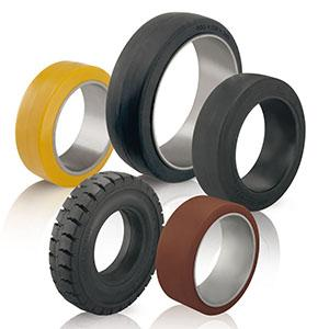 Tyres and press-on bands - null