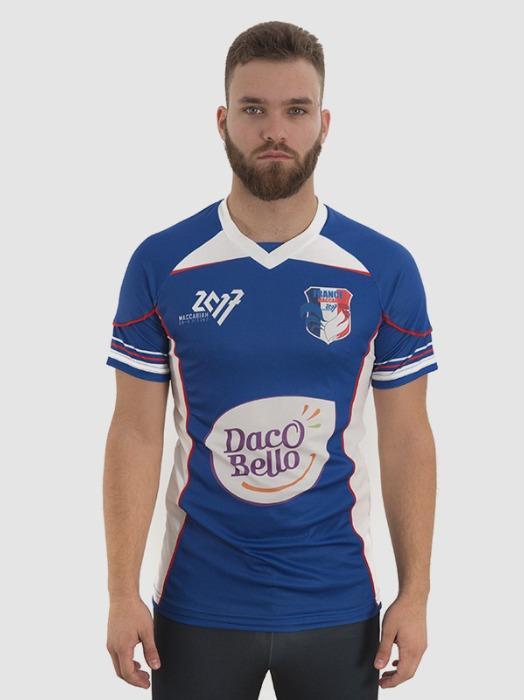 Football Jersey Men - short sleeve custom made jersey, 100% polyester mesh 135 gr