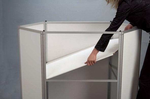 Counter Displays - Pupitre d'exposition hexagonal - finition bois