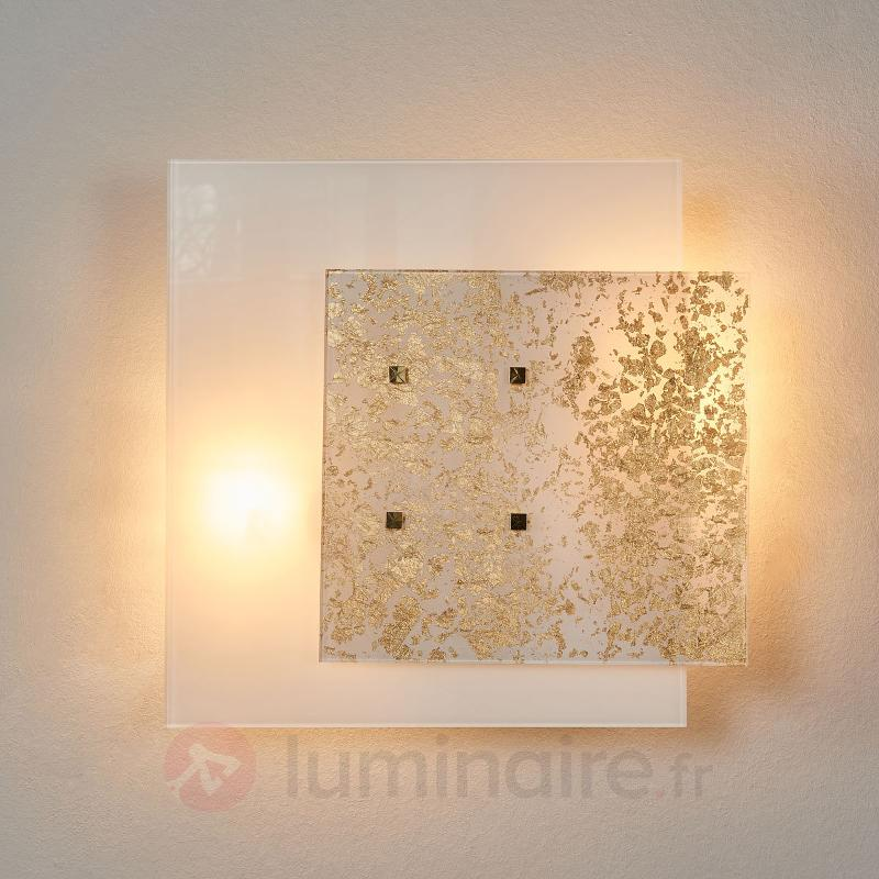 Applique Royal dorée à la feuille d'or - Appliques en verre