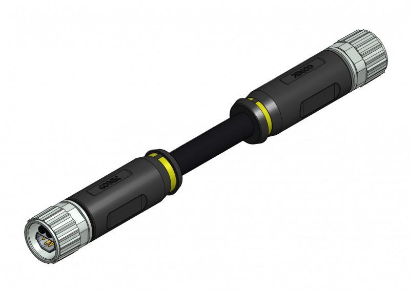 B12 Hybrid Steckverbinder umspritzt - CONEC Hybridsteckverbinder umspritzt Baugröße B12