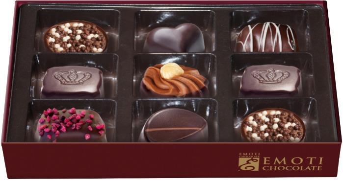 EMOTI Dark Chocolates, La Flambee 120g (bow decorated). SKU: -