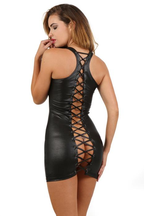 Robe courte sexy en wetlook