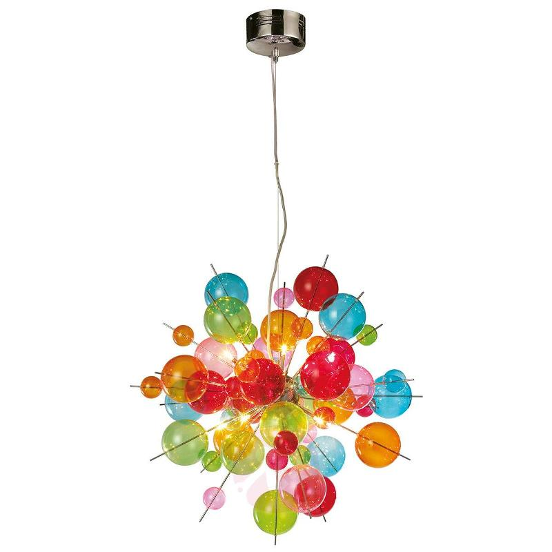 Colourful glass pendant light Aurinia - Pendant Lighting