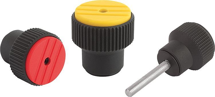 Knurled Torque Knobs - Fasteners Ball-end thrust screws Thrust screws and thrust pads Grippers Torque b