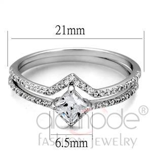 Fashion Rings - 925 Sterling Silver AAA Grade CZ Ring