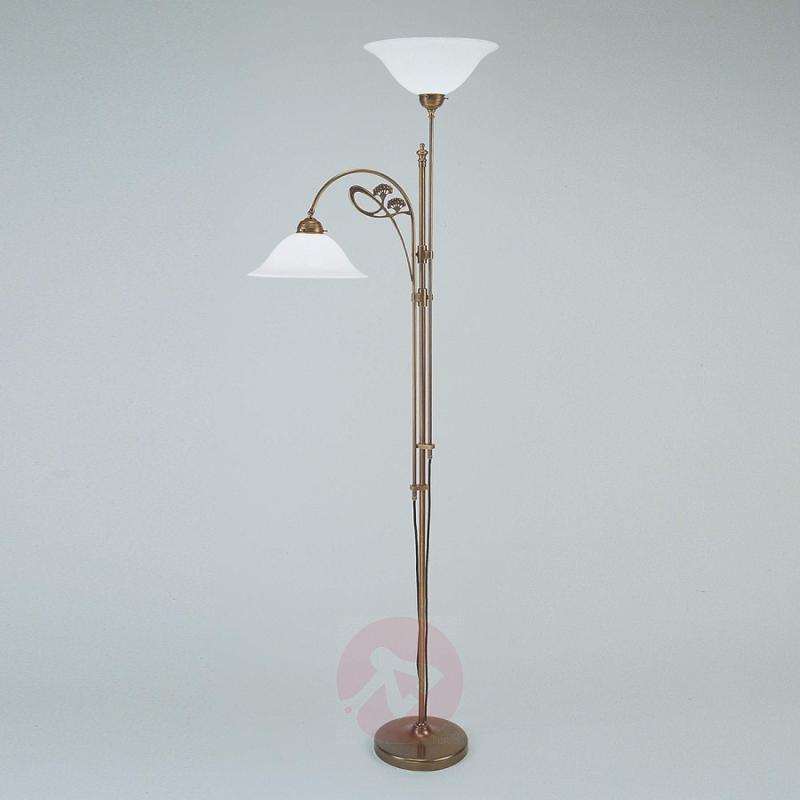Alwine brass floor lamp two-bulb, design-hotel-lighting, LIGHTS.CO ...