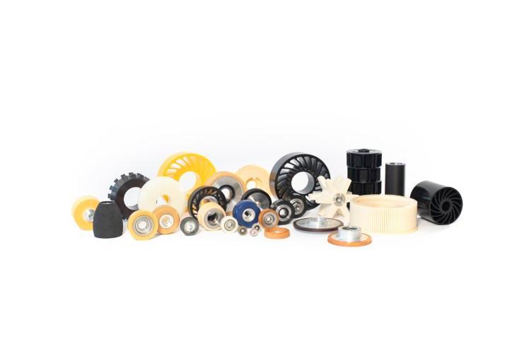 Räder, Rollen und Walzen - Antriebs-, Führungs- und Transportrollen oder Walzen mit Polyurethanbeschichtung
