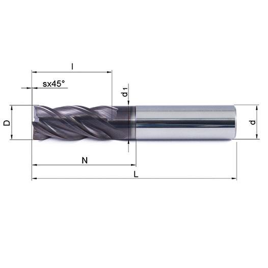 Vollhartmetallfräser VHM 473W-04 TS35 - null